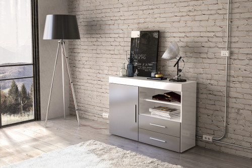 Edgeware White & Grey 1+2 Sideboard