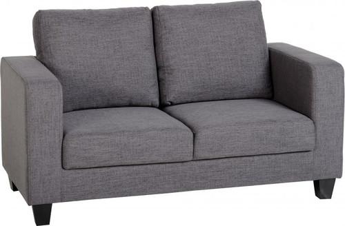 Tempo Grey 2 Seater Fabric Sofa