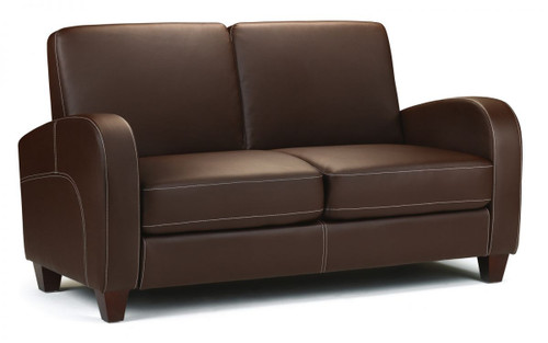 Vivo Chestnut Faux Leather 2 Seater Sofa
