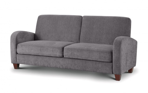 Vivo Dusk Grey 3 Seater Chenille Fabric Sofa