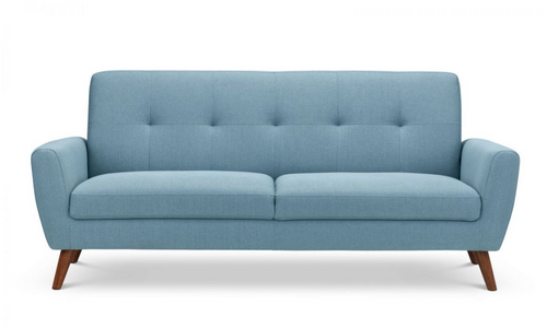 Monza Blue 3 Seater Fabric Sofa
