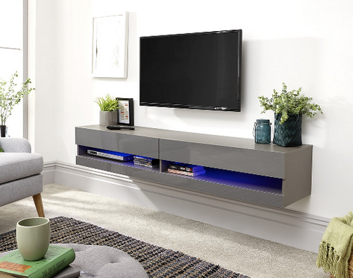 Galicia Grey Mounted TV Unit 180cm