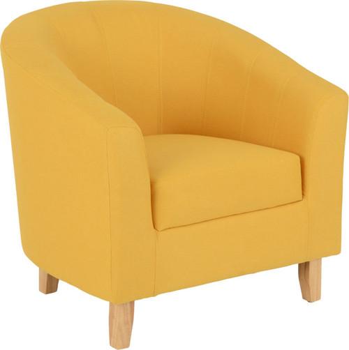 Tempo Mustard Fabric Tub Chair