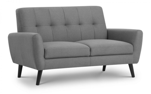 Monza Grey 2 Seater Fabric Sofa