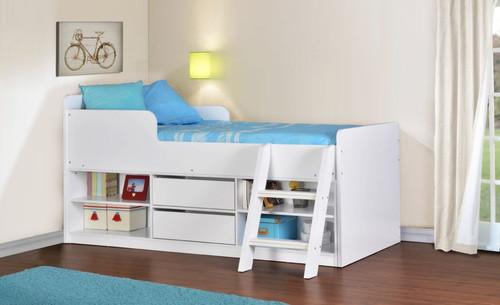 Felix White Low Sleeper Bed