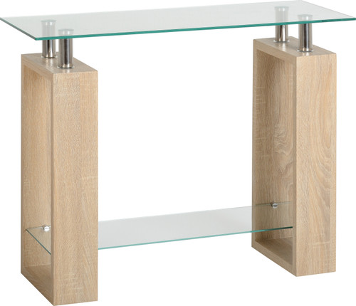 Milan Light Oak Console Table