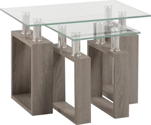 Milan Light Grey Nest of Tables