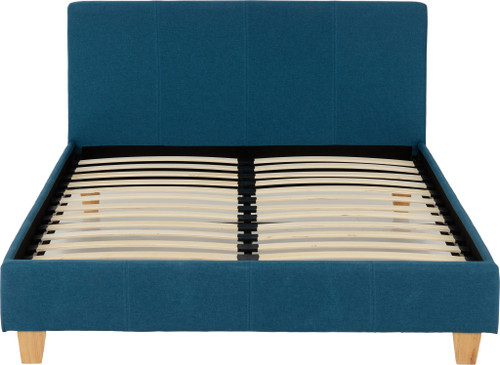 Prado Petrol Blue Fabric Bed Frame