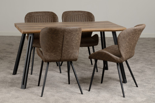 Quebec Wave Edge Dining Set