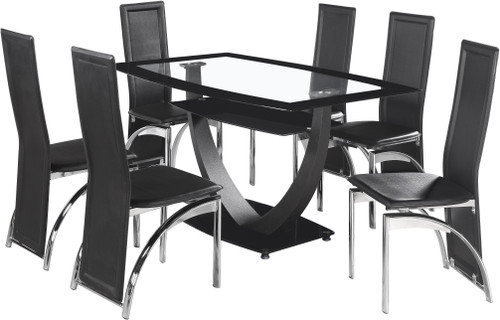Hanley Glass Dining Set