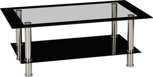 Harlequin Black & Clear Glass Coffee Table
