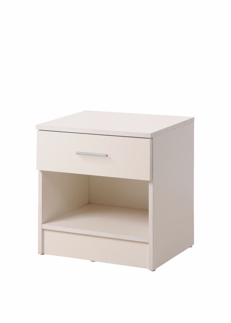 Rio Costa White 1 Drawer Bedside Chest