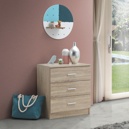 Rio Sonoma Oak Costa 3 Drawer Chest