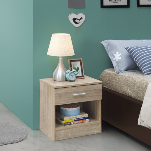 Rio Costa Sonoma Oak 1 Drawer Bedside Chest