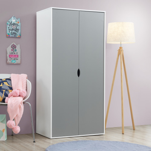 Alton Grey & White 2 Door Wardrobe