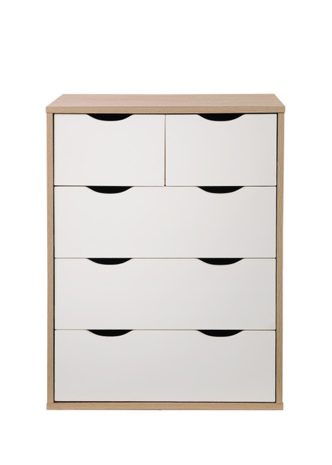 Alton Oak & White 3+2 Drawer Chest