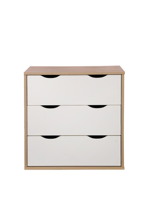 Alton Oak & White 3 Drawer Chest