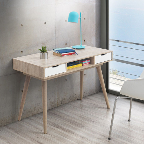 Alford White 2 Drawer Desk