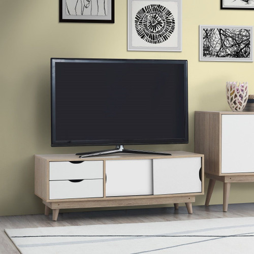 Alford Sonoma Oak & White TV Unit