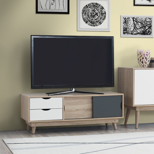 Alford Sonoma Oak, Grey & White TV Unit