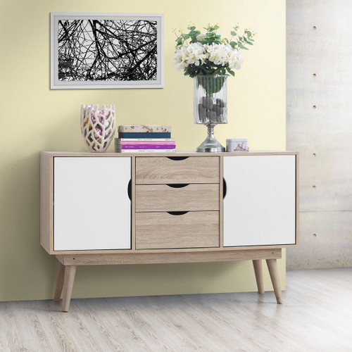 Alford Sonoma Oak & White Sideboard