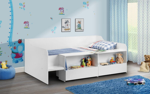 Stella White Low Sleeper Bed