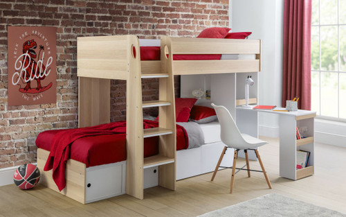 Eclipse Oak & White Bunk Bed