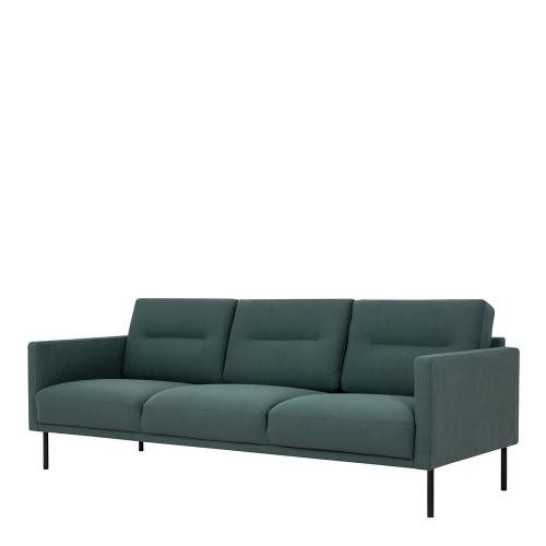 Larvik Dark Green 3 Seater Sofa with Black Legs