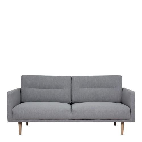 Larvik Grey 2 Seater Sofa with Oak Legs