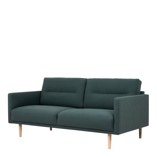 Larvik Dark Green 2 Seater Sofa with Oak Legs