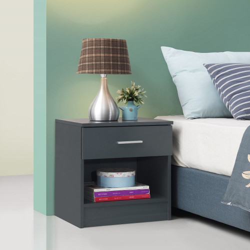Rio Costa Grey 1 Drawer Bedside Chest
