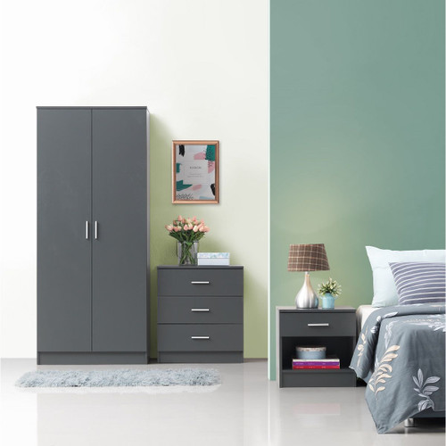 Rio Costa Grey 3 Piece Bedroom Set