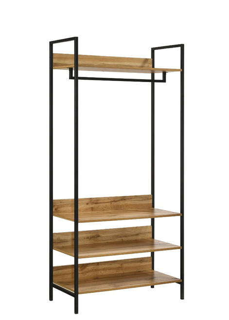Zahra Small Open Wardrobe with 4 Shelves in Oak
