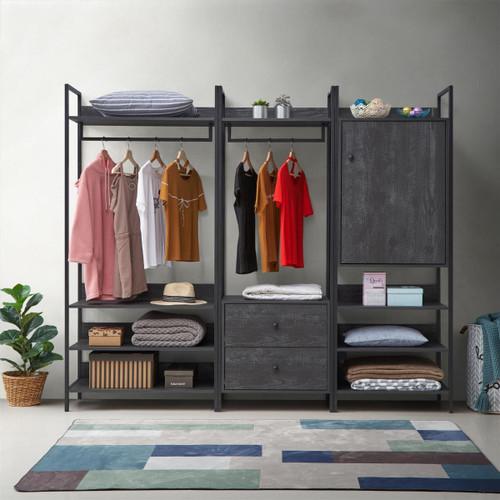 Zahra 3 Piece Bedroom Furniture Set in Black