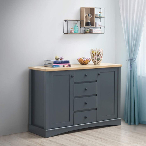 Carden Sideboard with 2 Doors & 4 Drawers in Grey