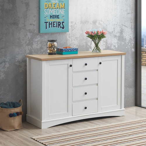 Carden Sideboard with 2 Doors & 4 Drawers in White