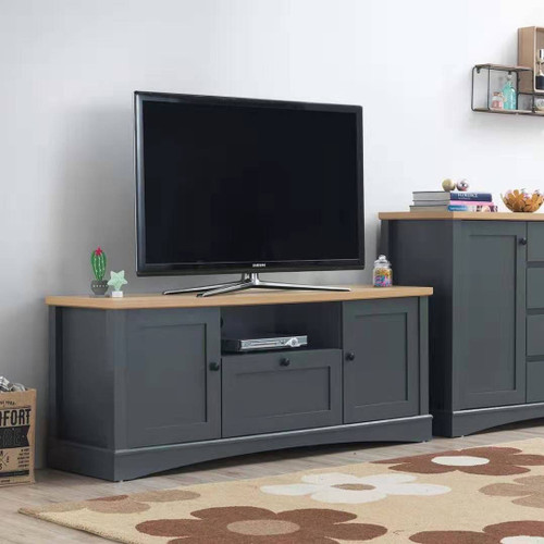 Carden TV Cabinet with 2 doors & 1 drawer in Grey