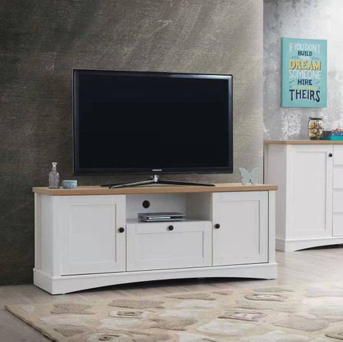 Carden TV Cabinet with 2 Doors & 1 Drawer in White