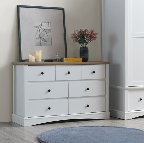 Carden 7 Drawer Chest in White