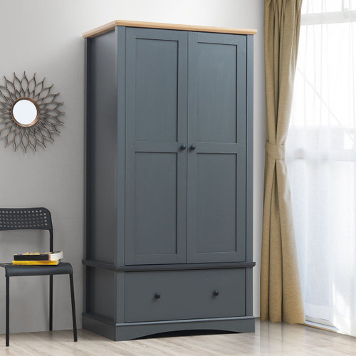 Carden 2 Door Wardrobe in Grey