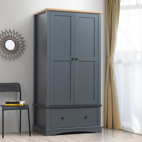 Carden 2 Door Wardrobe in Grey