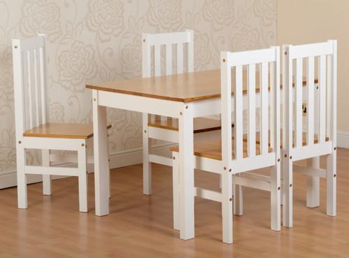 Ludlow White 4 Seater Dining Set
