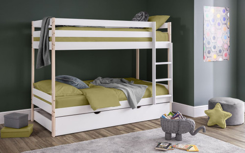 Nova Bunk Bed with Trundle Bed Drawer Base