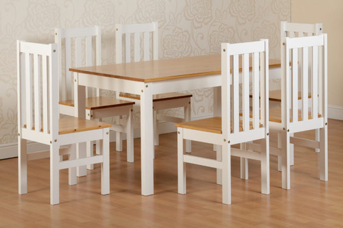 Ludlow White 6 Seater Dining Set