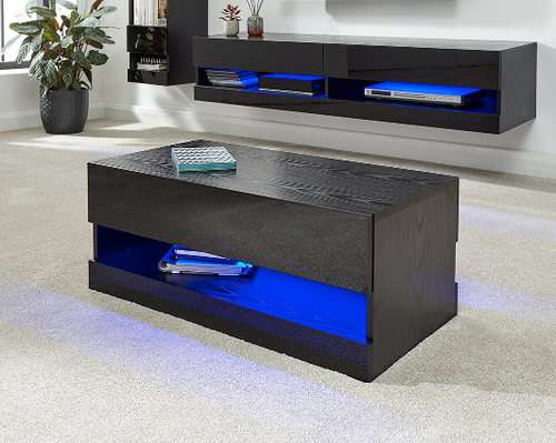 Galicia Black Light-up Coffee Table