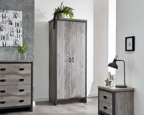 Boston 3 Piece Grey Bedroom Set