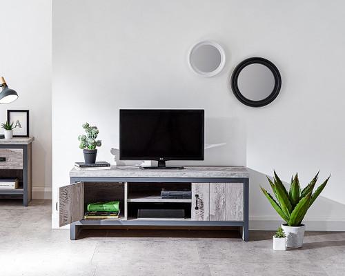 Boston Grey 2 Drawer TV Unit