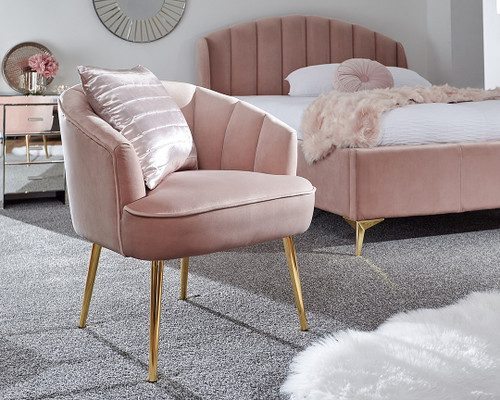 Pettine Pink Velvet Chair