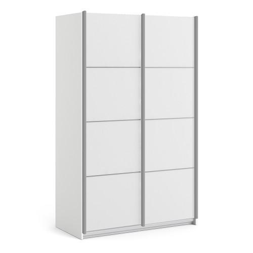 Verona White Sliding Wardrobe (120cm)