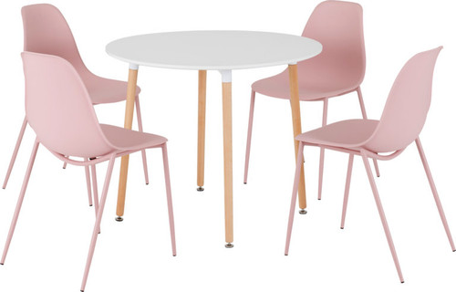 Lindon Dining Set in Pink